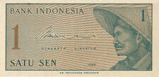 1964 1 ONE SATU SEN INDONESIA CURRENCY UNC BANKNOTE NOTE MONEY BANK BILL CASH CU