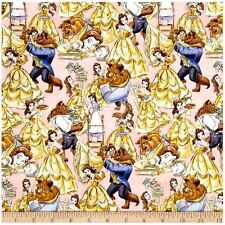 Disney Princess Beauty And The Beast Belle Cotton Fabric By The Yard