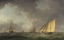 Cutter Close Hauled in a Fresh Breeze Charles Brooking Segelschiffe B A3 01042