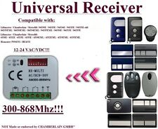 Universal receiver Compatible with Chamberlain Liftmaster 433,92Mhz Remotes