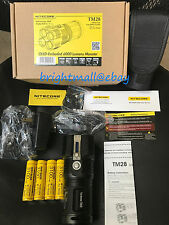 NEW Nitecore TM28 6000 Lumen LED Flashlight W/4 3100MAH IMR BATTERY-TM26 Upgrade