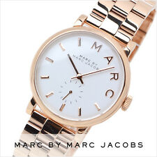 NEW MARC JACOBS BAKER ROSE GOLD TONE WHITE DIAL BRACELET LADIES WATCH MBM3244