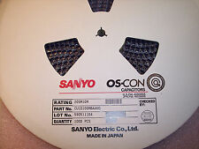 QTY (1000) 20SM10M SANYO OS-CON HORIZONTAL SMD CAPACITORS 10uf 20V CU1D100MBAANG