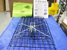 E-Z Catch *Patent Folding Crab Pot PVC Extra Large Black Two Door Trap USA Made