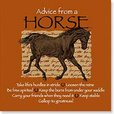"""LEANIN TREE """"Advice From A Horse"""" #26338 Magnet ~ Keep Stable*Loosen The Reins"""
