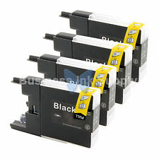 4 BLACK LC71 LC75 Compatible Ink Cartridge for Brother LC75BK HIGH YIELD LC71BK