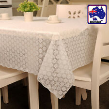 White Floral Placemats Table Cloth Cover 90x137cm Home Decor HDCLH 4590