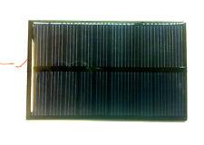 Mini Pannello solare  fotovoltaico 6V 0,7W 130mA silicio policistallino. 80x55x2