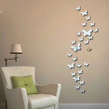 QT-0046 New 30pcs Decorative Vinyl 3d Butterfly Wall Decor Poster Vintage