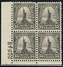 #696 LOWER LEFT PB#20548 15c 1931 ROTARY PRESS HI VALUE ISSUE MINT-OG/NH--VF/XF