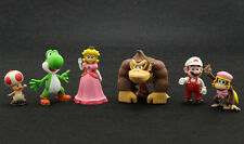 "Lot 6 Super Mario Bros 1-1/2"" ~2-1/2"" Mini Game Figures Figurine Series 3 Toy"
