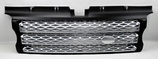 Range Rover Sport 06-09  Honeycomb Mesh Black & Silver Front Bumper Hood Grill