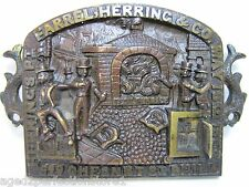 Antique Farrel Herring & Co Fireproof Safe Bronze Plaque pat 1852 Phila ornate