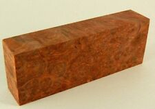 Amboyna Burl Knife Block, Professionally Stabilized 4 5/8 x 1 5/8 x 1,  AMB#1981