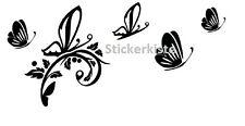 Auto Aufkleber Blume Schmetterling 8 St. Sticker Tuning Folie Decal Pink 40 cm