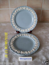 Wedgewood - Queens Ware Salad Plates Quantity 2 Cream On Lavender Grape Vine