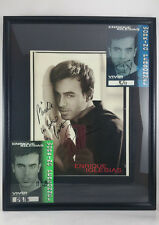 RARE Enrique Iglesias Vivir Tour SIGNED Framed Photo, 2 Working Personnel Passes