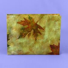 Maple Leaf Fall Autumn Personalized Wedding Guest Book