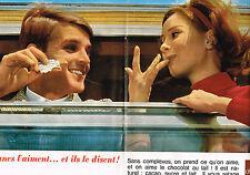 PUBLICITE ADVERTISING  1963   CHOCOLAT AU LAIT    boisson  ( double page)