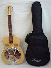Acoustic Electric Square Neck Resonator, 4 Band EQ, Natural, Free Gig Bag, New