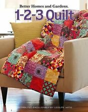 1-2-3 QUILT How-To + Ideas + 8 PROJECTS 2008 Used PB Leisure Arts 9781601408204
