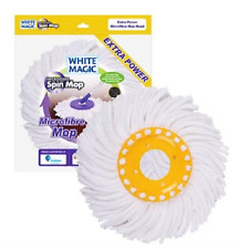 NEW WHITE MAGIC SPIN MOP EXTRA POWER REPLACEMENT MOP HEAD CLEANING MOPPING CLEAN