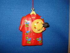 Beach Ornament Hawaiian Shirt Red Floral with Hat and Camera 63209 175