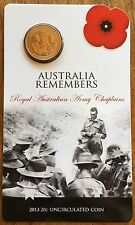 Australia Remembers  .20c Coin Army - On Original Card 2013 ✔️ Twenty cents