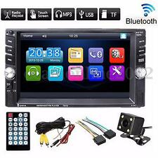 6.6'' 2 DIN Auto Touch screen MP3 MP5 Player Bluetooth Stereo Radio +Camera