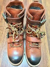 NICE NEW POLO RALHP LAUREN MAURICE Men Winter High Leather Boots Brown SZ 8D