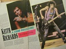Keith Richards, The Rolling Stones, Two Page Vintage Clipping