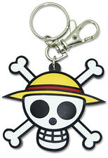 **License** One Piece PVC Keychain Straw Hat Pirate Luffy Jolly Roger Skull#4802