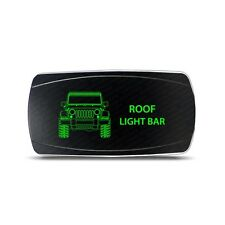 Rocker Switch Jeep Wrangler JK Roof Light Bar Symbol - Horizontal - Green LED