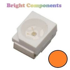 10 X Naranja plcc-2 (Led Smd Smt 3528/1210) - Ultra Brillante-Uk - 1st Class Post