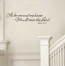 As For Me And My House The Lord Quote Saying Wall Decal Decorative Wall Sticker