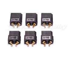 Black XT60 Bullet Connector Plugs Male / Female RC Lipo 3 Pairs Connector 6 Pcs