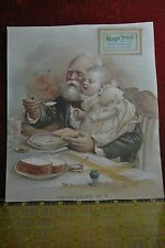 VICTORIAN GRANDPA FEEDING BABY GIRL, MAGIC YEAST BREAD, WHO GETS IT?
