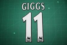 F.A. Premier League Player Size Name & Numbering Printing #11 GIGGS