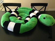 BJ Toys Stuffed Plush Snake Over 14 Feet Long Green White Black Reptile with Tag