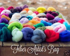 Fiber Artists Bag of 56 Colors Ashford Corriedale Wool Roving, Needle Felting
