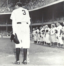NY YANKEES BABE RUTH STANDS ALONE AT HOME PLATE AFTER RETIREMENT SPEECH STADIUM
