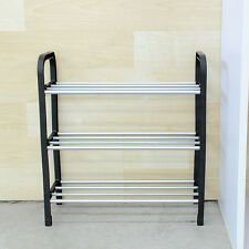 New 3 Tier Plastic Shoe Rack Storage Organizer Stand Shelf Holder Unit Black