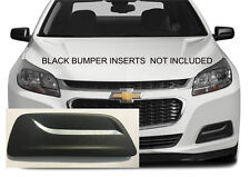 FRONT BUMPER FOG LIGHT INSERT CHROME TRIM FITS 2013 - 2015 CHEVROLET MALIBU PAIR