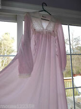 Vintage Christian Dior Lingerie Nightgown white lace Pink Sz small