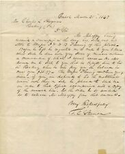 Mexican War soldier letter 1847 selling his musical instruments before enlisting