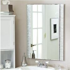 Mirrors For Bathroom Vanity Mirror Wall Mount Modern Frameless Floating Silver