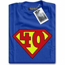 NEW Super 40 Years Old 40th Birthday Party Top Superhero Gift Present T-Shirt