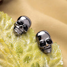 Unique Cool Womens Punk Vintage Skull Head Earrings Ear Studs Fit for Gifts