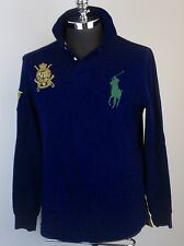 POLO Ralph Lauren Mens Custom Fit Long Sleeve Rugby Shirt Big Pony Logo  L