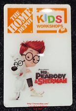 LMH PINBACK Pin  MR PEABODY Sherman TROJAN HORSE BANK Home Depot Kids Workshops